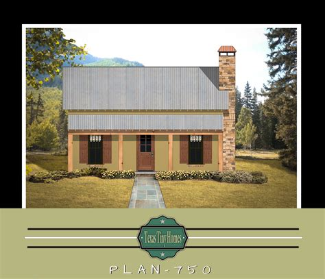 tiny homes plan 750