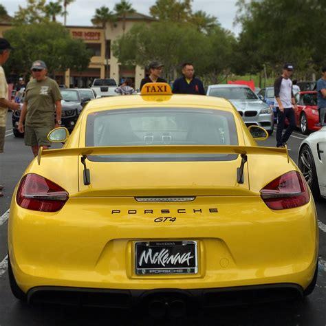 porsche california porsche cayman gt4 taxi shows up at cars coffee in