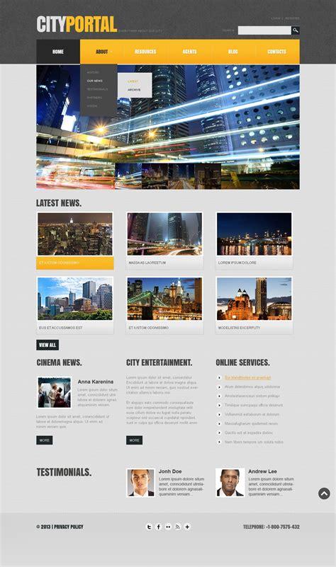 template joomla html city portal responsive joomla template 44599