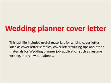 Wedding Cover Letter Wedding Planner Cover Letter
