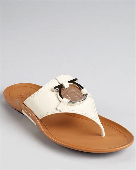 salvatore ferragamo flat sandals salvatore ferragamo sandals demy flat bloomingdale s