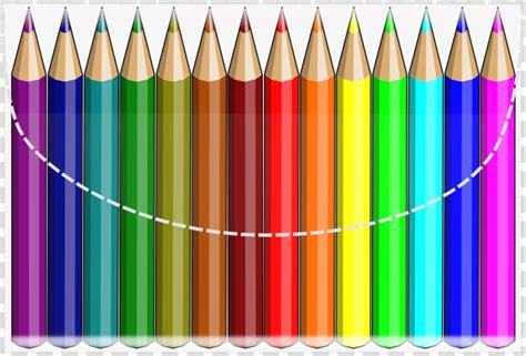 Pensil Warna 12 Color colouring pencils clip at clker vector clip royalty free domain