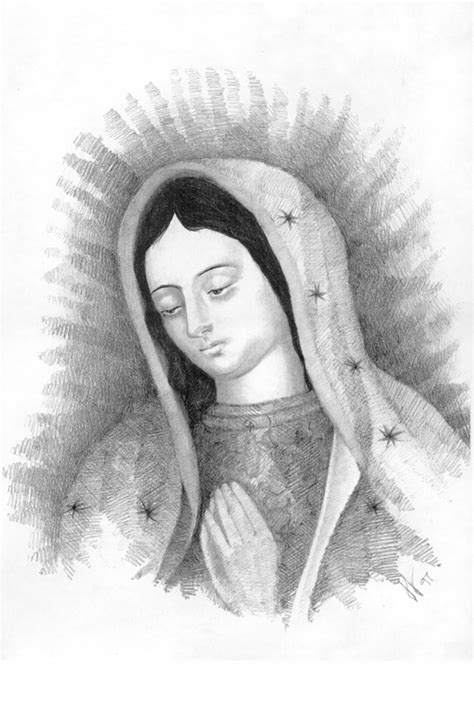 imagenes a lapiz de la virgen maria fotos de la virgen de guadalupe en dibujo imagui