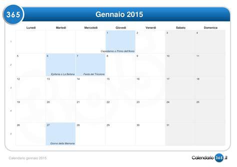 Calendario Gennaio 2015 Calendario Gennaio 2015