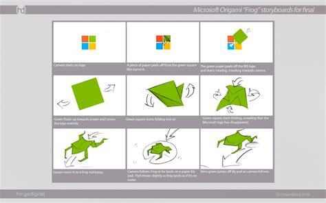 Microsoft Origami - microsoft times square cube origami hinge