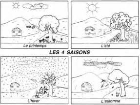 les 4 saisons de l annee coloriage