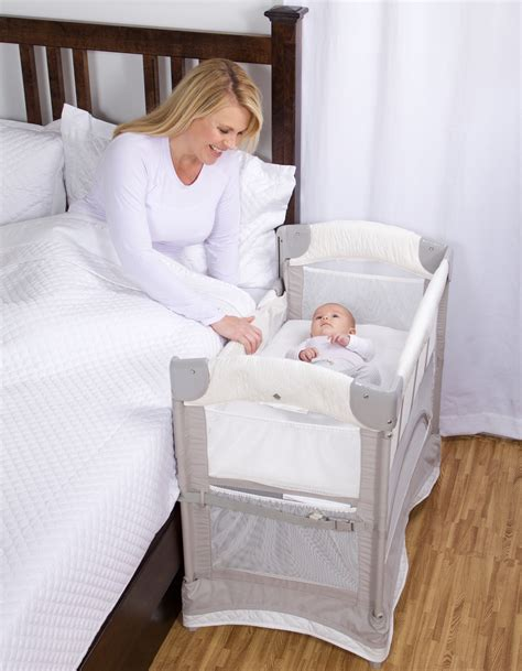 bed attached crib mini ezee 2 in 1 co sleeper 174 freestanding bassinet and