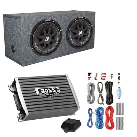 sub wiring kit kicker 600 watt 12 quot subwoofers pair sealed box