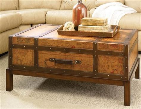 map trunk table map trunk coffee table