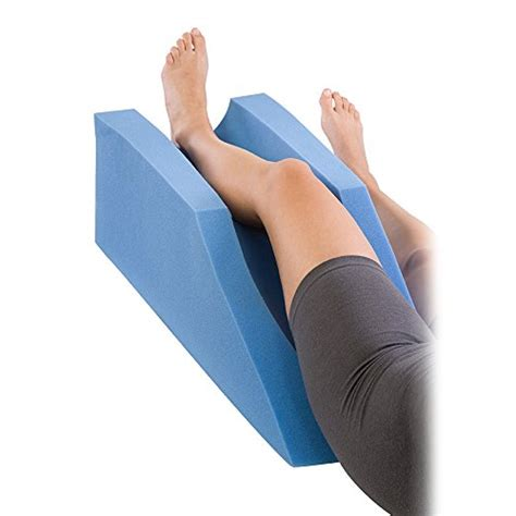 pillow to elevate legs in bed procare elevating foam cushion leg rest support pillow