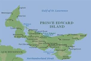prince edward island map of canada prince edward island