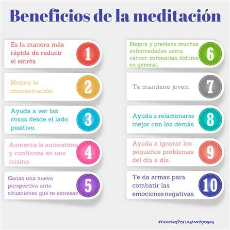 meditacin meditation la 8499081495 10 beneficios de la meditaci 243 n gracias por las mariposas