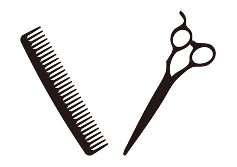 Gunting Sisir clipart vektor gratis dari barber illustac