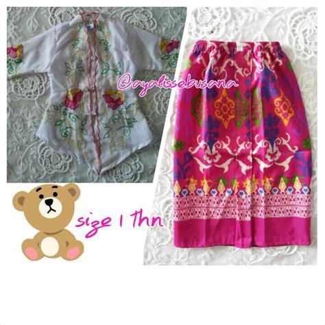 Setelan Kebaya Set Bordir baju gamis anak umur 4 tahun gamis murni