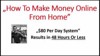how to make money from home 80 per day