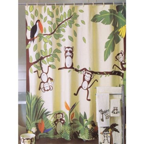 monkey shower curtains quot monkeying around quot monkey printed fabric shower curtain