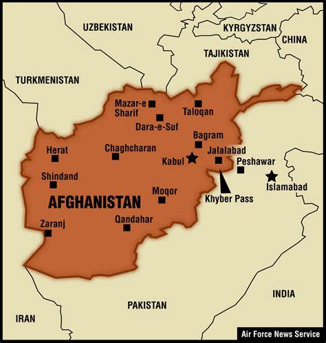 map of af afghanistan