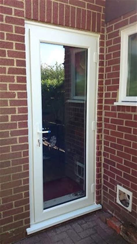 Backdoor Or Back Door by Clinton Half Panel Dual Glazed Upvc Back Door