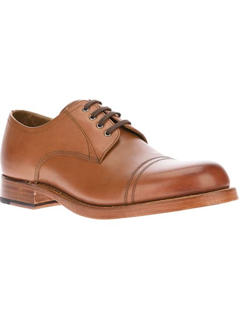 brown derby shoes grenson rhys derby shoe in brown for lyst