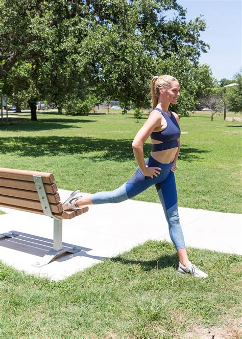 bench lunge ditch the gym with these 5 outdoor exercises camille styles