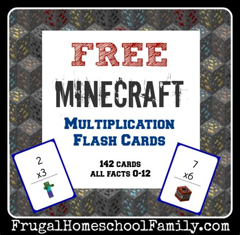 Minecraft Free Gift Card - free minecraft multiplication flash cards money saving mom 174