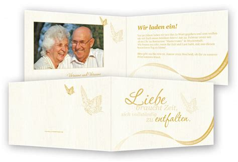 Einladung Zur Goldenen Hochzeit by Einladung Goldene Hochzeit Vorlage Feinekarten