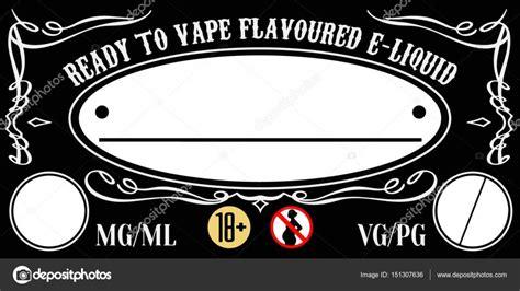 Vape E Liquid E Juice Label Sticker Template For Bottle Stock Vector 169 Einherjar336 151307636 E Liquid Label Template Free