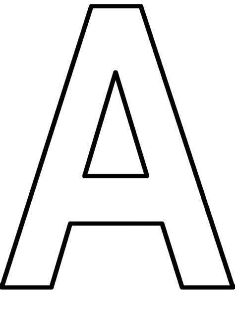 Letter A Coloring Pages For Preschoolers Coloring Home A Colouring Sheet