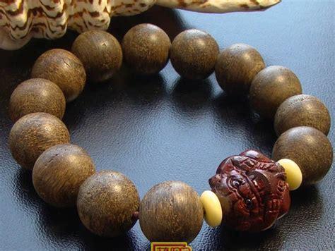 Agarwood Bead handmade 15mm hainan agarwood mala bracelet wishbop