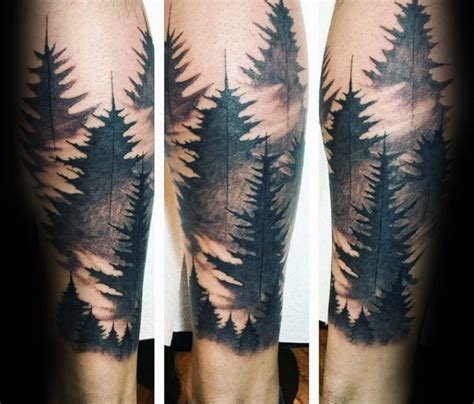 forest sleeve tattoos 100 forest designs for masculine tree ink ideas