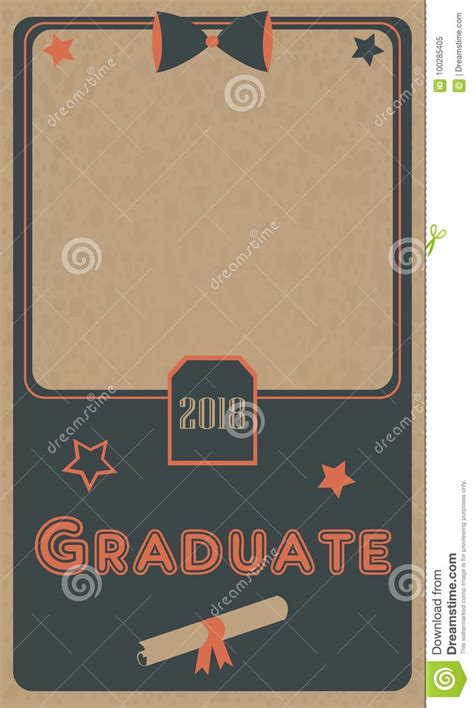 graduation 2018 photo frame graduation ceremony flat