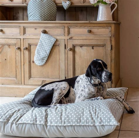 pet dot organic cotton polka dot pet bed by cottage in the