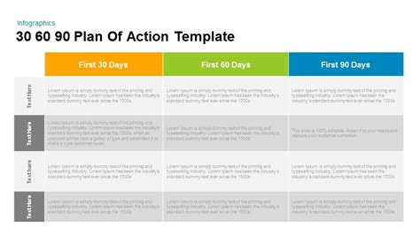 30 60 90 Plan Of Action Powerpoint And Keynote Template Slidebazaar 30 60 90 Day Plan Presentation Template