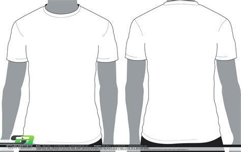 Blank T Shirt Template Front And Back T Shirt Front And Back Template