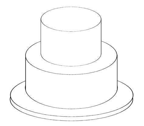 cake template free coloring pages of tiered cake