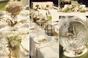 country chic wedding centerpieces rustic chic wedding decor jar centerpieces onewed