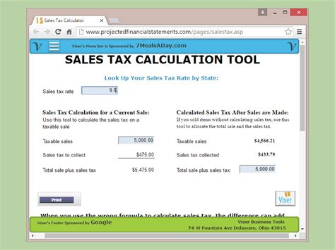How To Find Sales How To Calculate California Sales Tax 11 Steps With Pictures