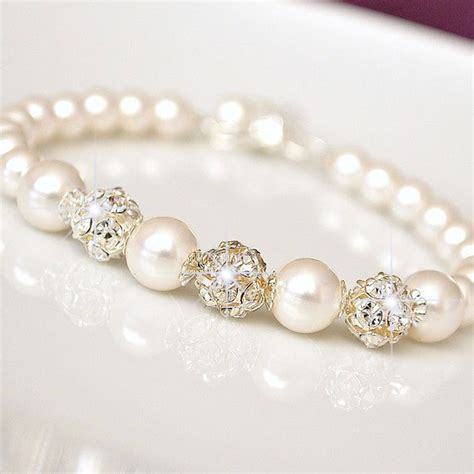 hochzeit armband bridal bracelet pearl bridal bracelet by somethingjeweled