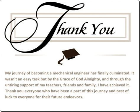 Thank You Letter Of Graduating Student sle graduation thank you card notes note