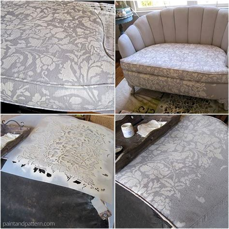 diy chalk paint sofa 1000 images about stenciled and painted furniture on