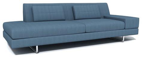 one arm sofa with chaise truemodern hamlin one arm sofa with chaise