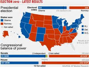 2012 election results map presidential race nov 6 2012