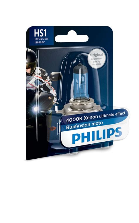 Lu Philips Blue Vision Moto bluevision moto motorcycle headlights 12636bvb1 philips