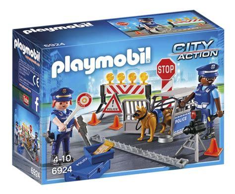 rubberbootje action playmobil city action 6924 barrage de police dreamland