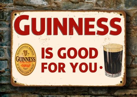 Home Pub Decor Guinness Sign Vintage Pub Signs Classic Metal Signs