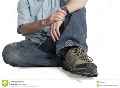 How To Sit On The Floor Comfortably by Sitting Comfortably Up Royalty Free Stock Photo