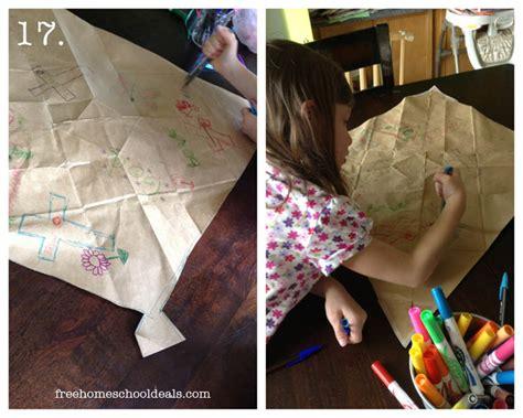 How To Make A Paper Bag Kite - how to make a paper bag kite free homeschool deals