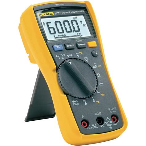 multimeter digital fluke 117 cat iii 600 v anzeige