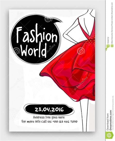 fashion flyers templates for free fashion world flyer template or banner design royalty