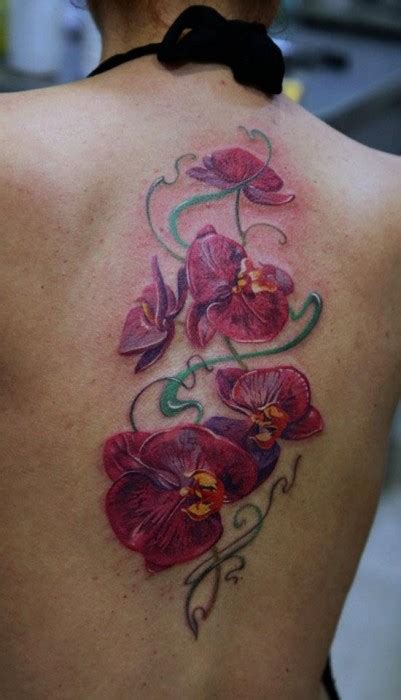blue orchid tattoo orchid the best flower tattoos